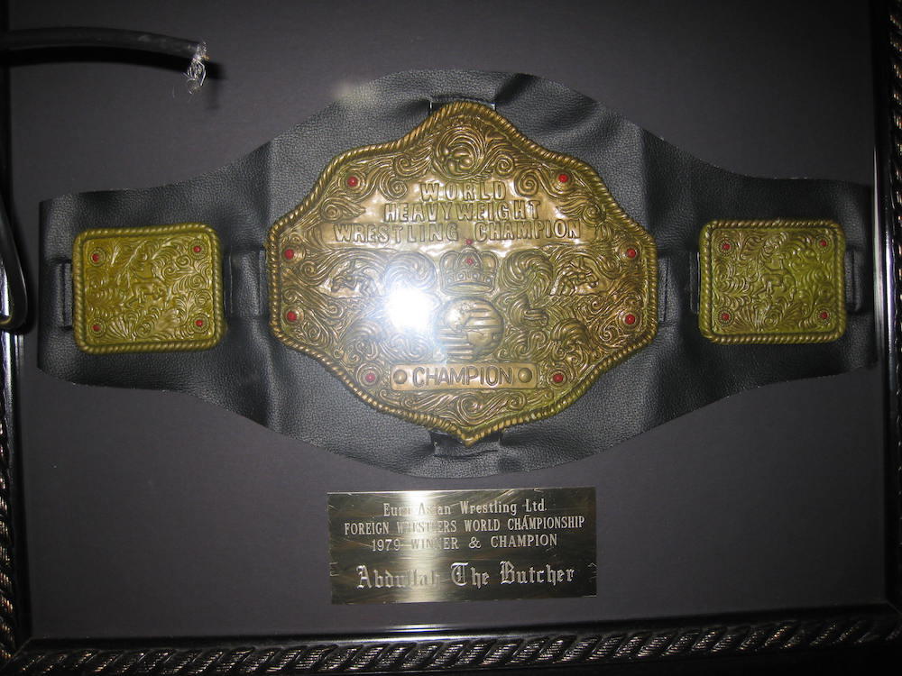 Abdullah the Butcher House of Ribs & Chinese Food Championship Belt