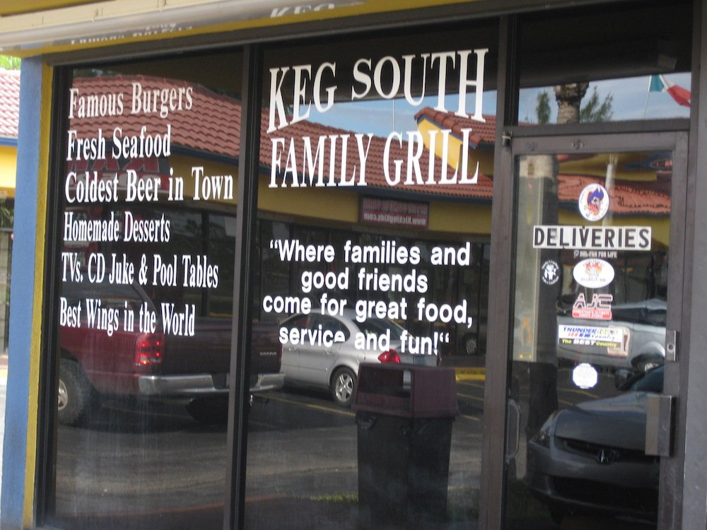 Keg South in Homestead, Florida