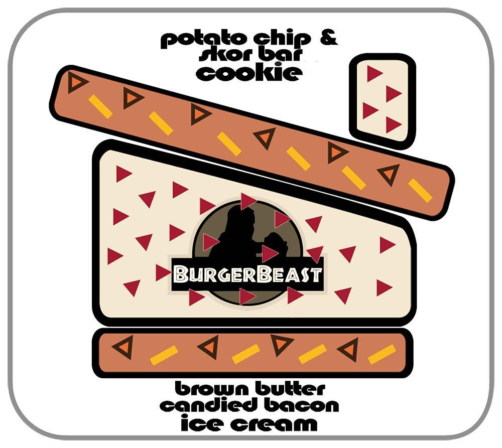 Coolhaus Burger Beast Sammy Magnet
