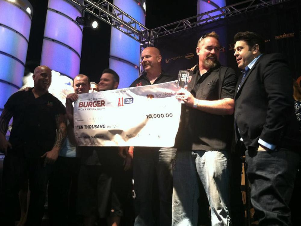 Lucky 13 wins Best Burger at World Food Championship 2012