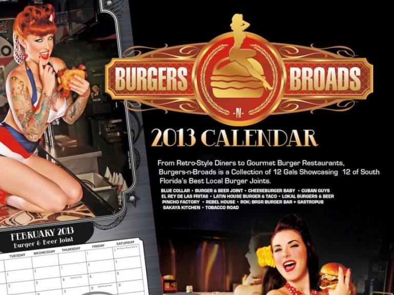 Burger Beast's 2013 Burgers-n-Broads Calendar