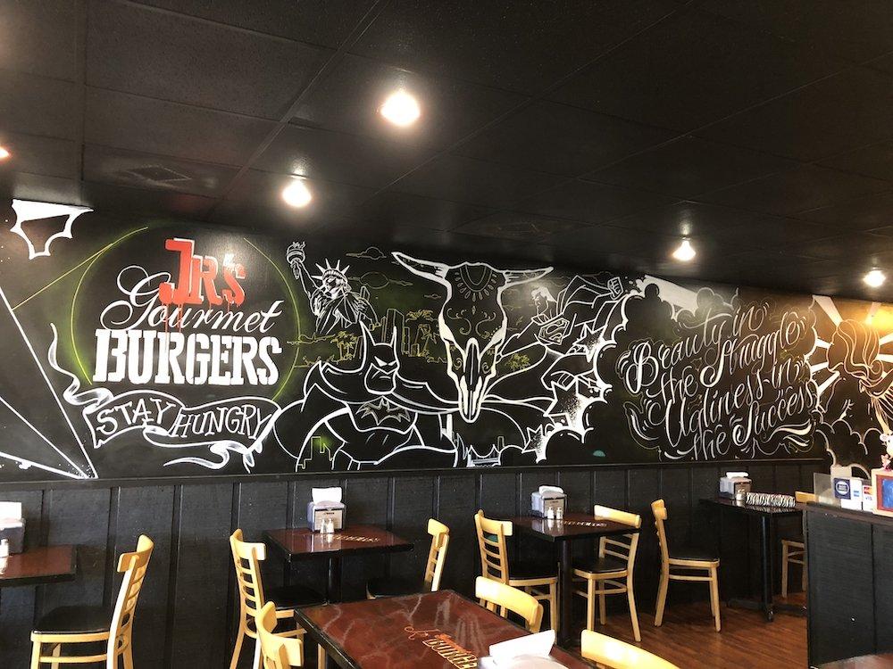 Inside of Jr's Gourmet Burgers