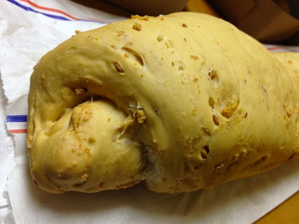 Closeup of Breadman Bakery Chicharron Cuban Bread