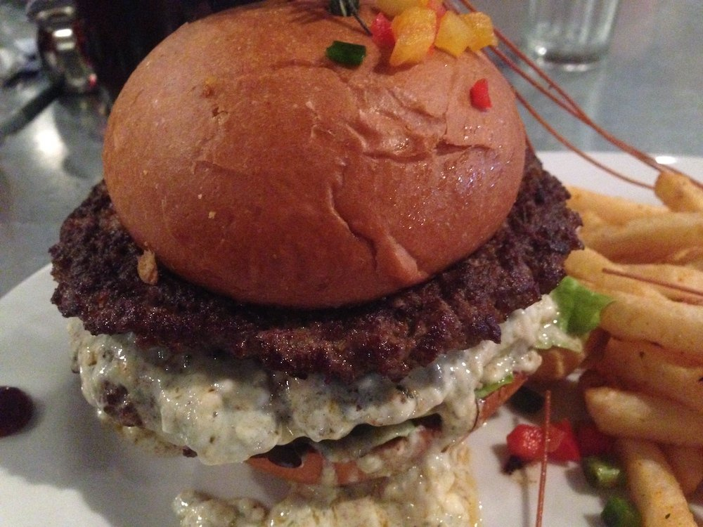 Hash House a Gogo Blue Cheeseburger