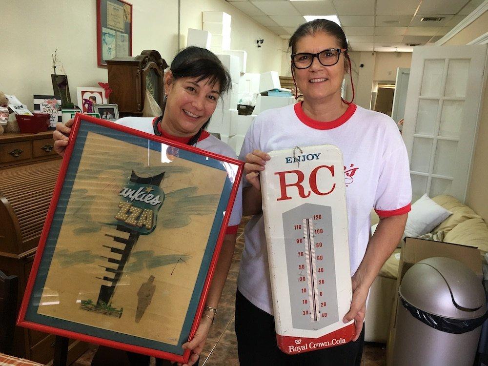 Renee & Roxanne original Frankie's design artwork & RC Cola thermometer
