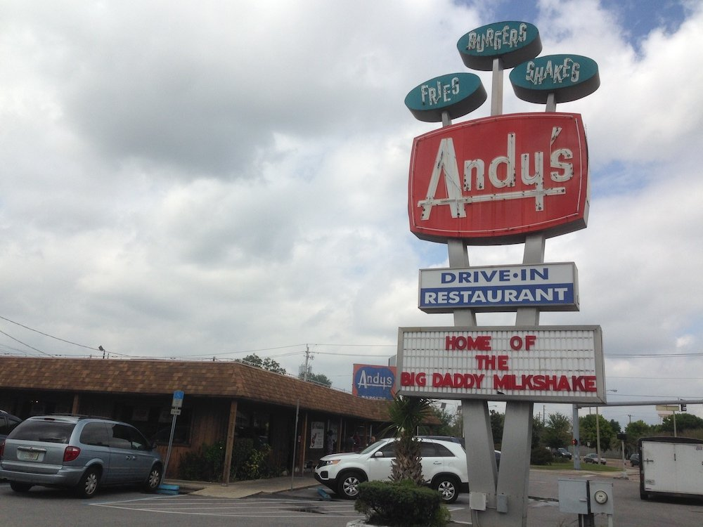 Andy's Drive-In Sign from Winter Haven, Florida