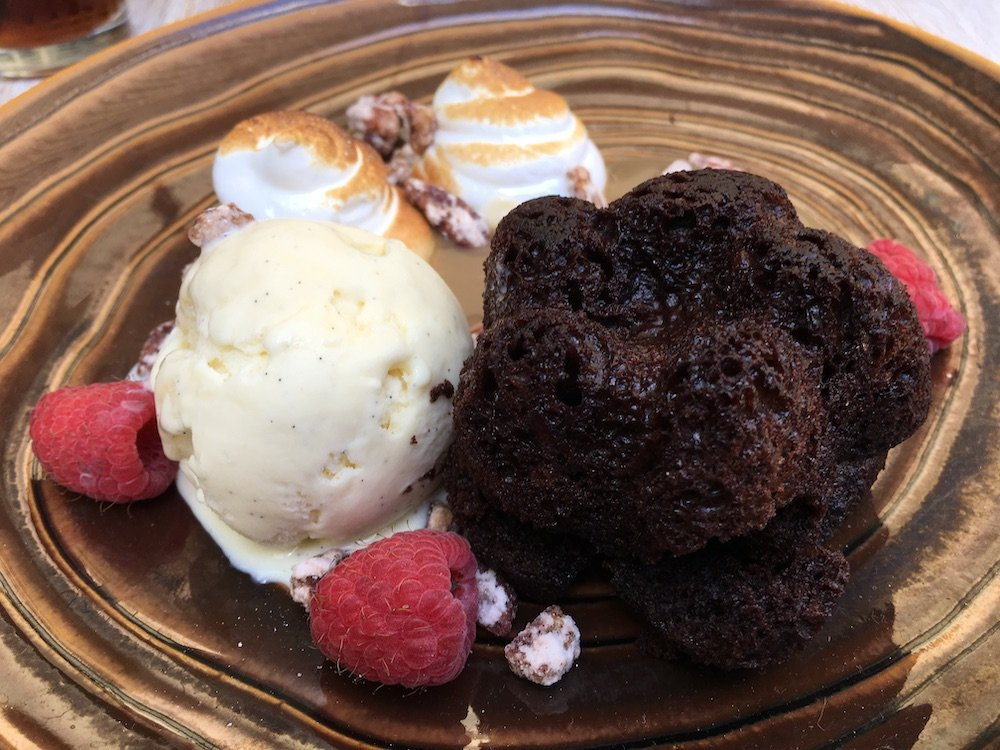 Chocolate Bourbon Cake w/ Azucar Ice Cream