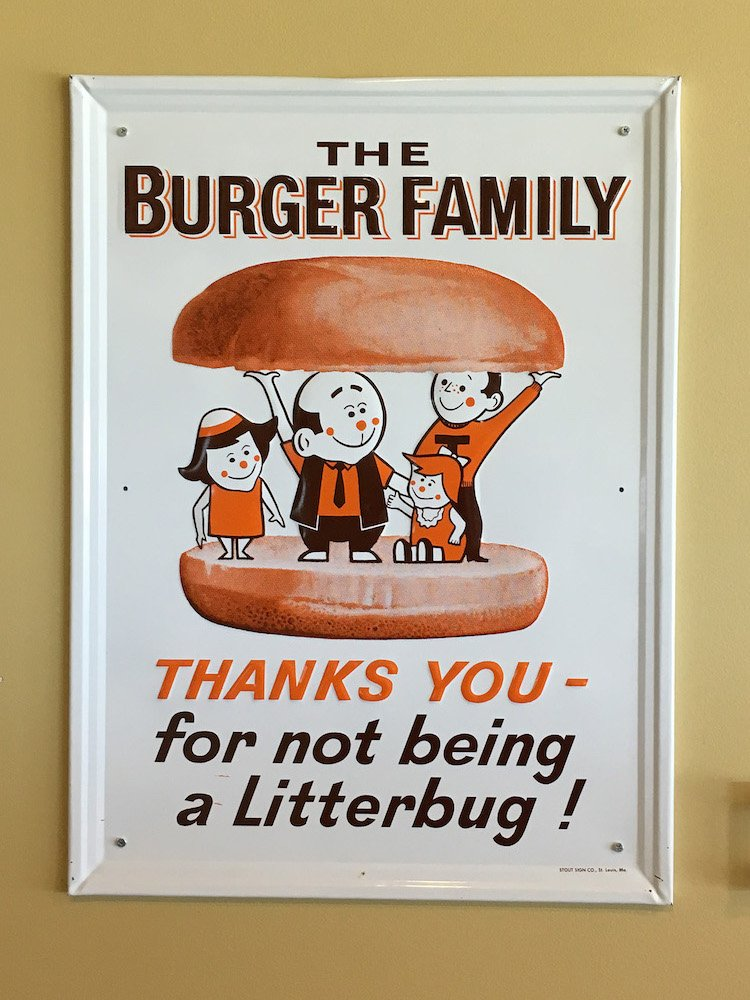 The Burger Family Sign