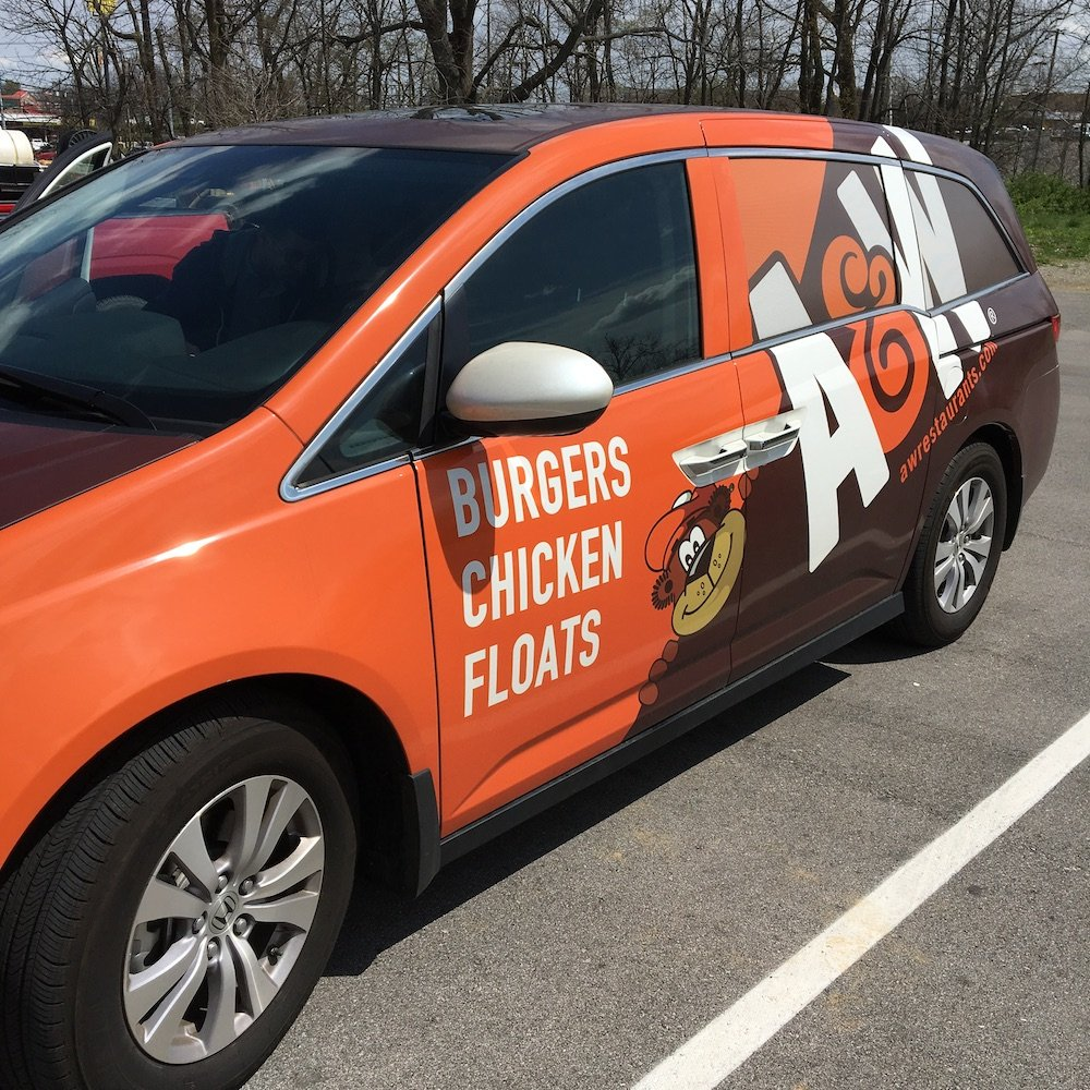 A&W Corporate Car Side View