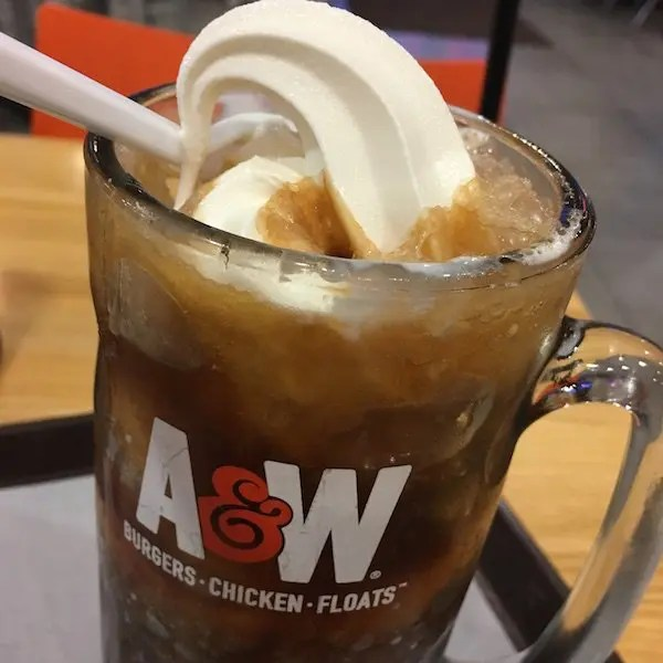 Root Beer Float Closeup