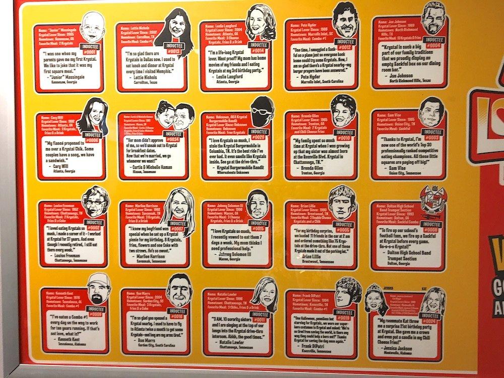 Krystal Lovers Hall of Fame Members