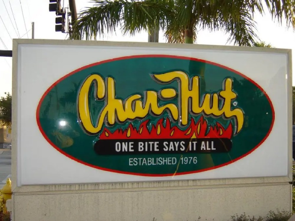 Giant Char-Hut Sign