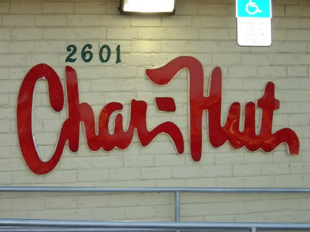 Char-Hut Logo outside of building