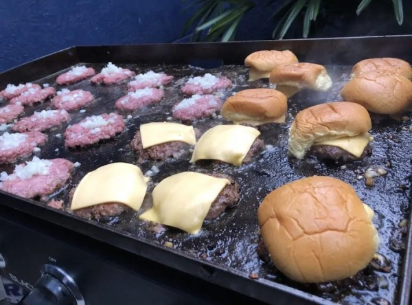 Cooking Burgers on a Blackstone Grill