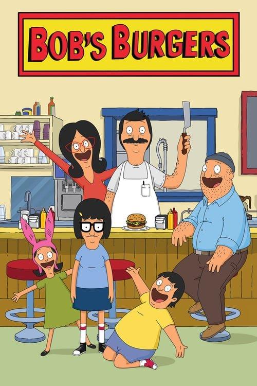 Poster of the cartoon cast of Bob's Burgers