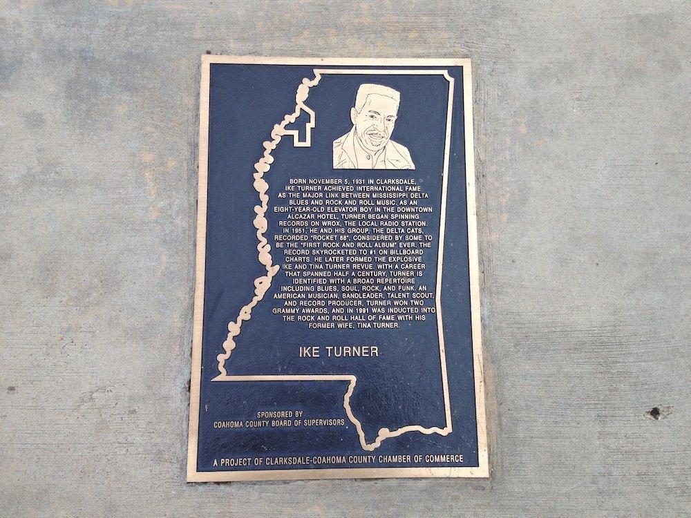 Ike Turner Floor Plaque