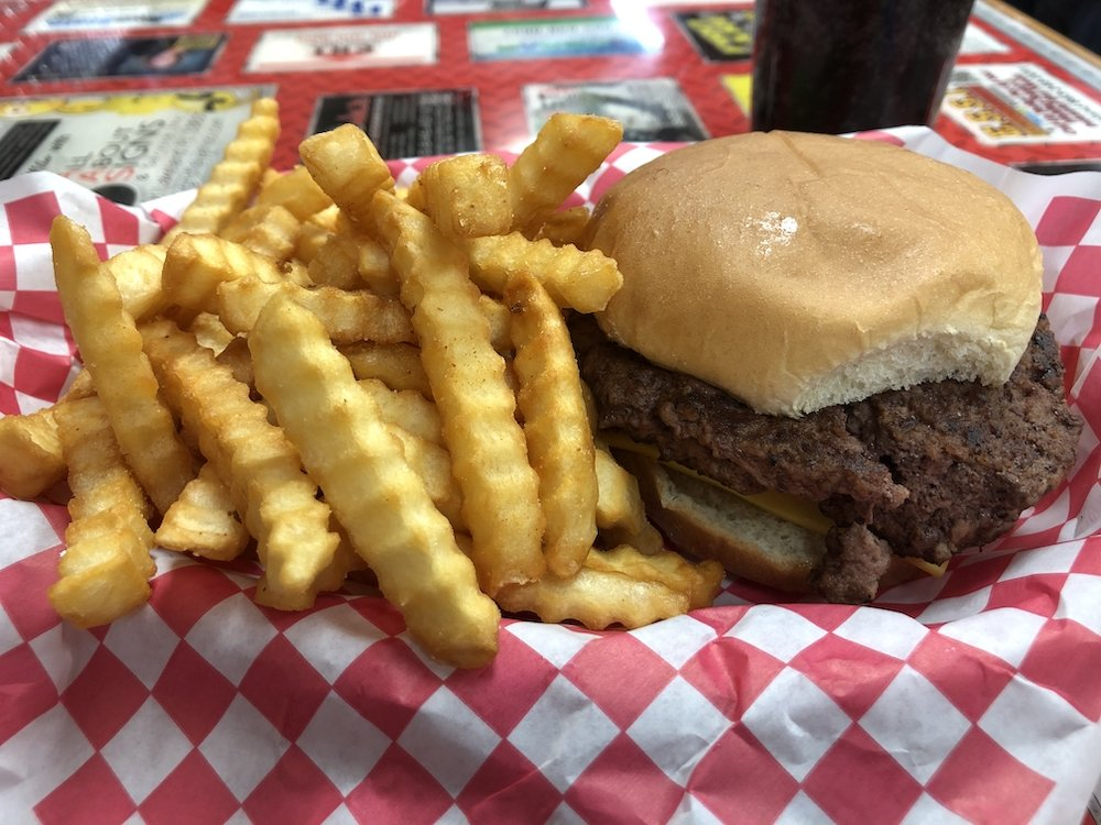 S & L Restaurant Cheeseburger Special with Fries