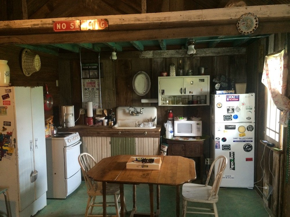 Kitchen area inside of Dogtrot
