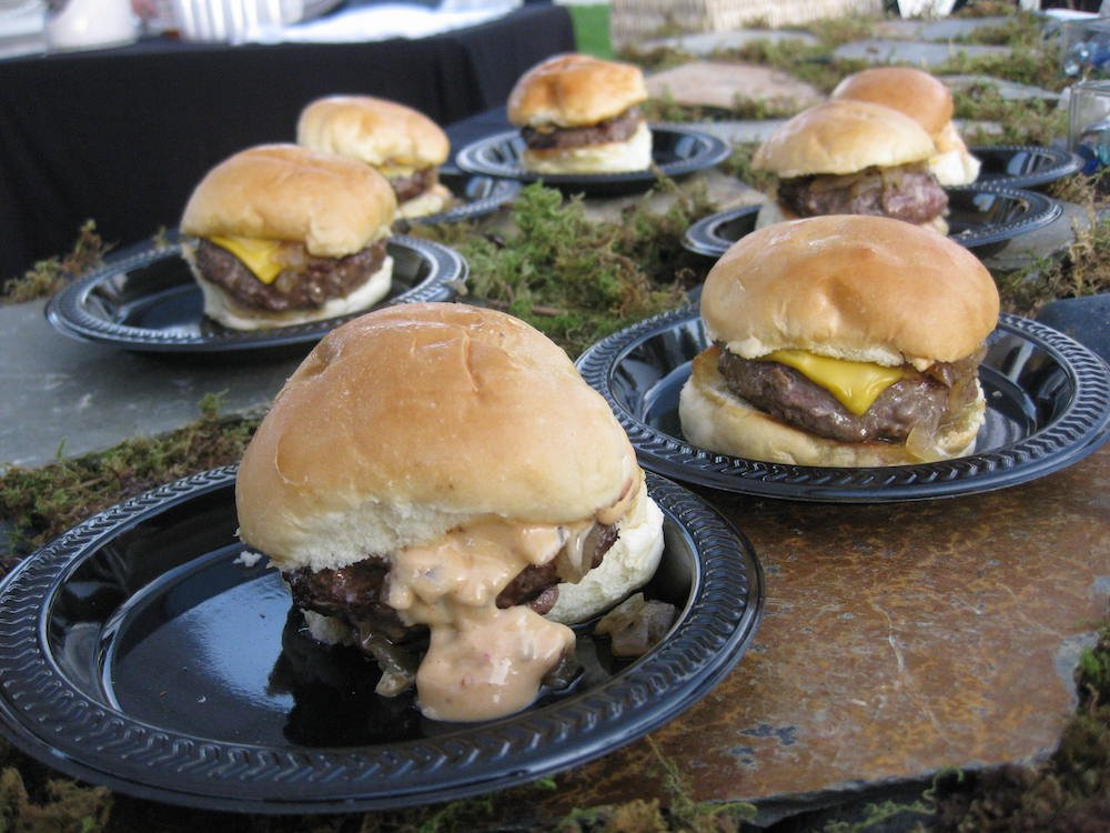 Burgers at Georgie's Alibi  booth