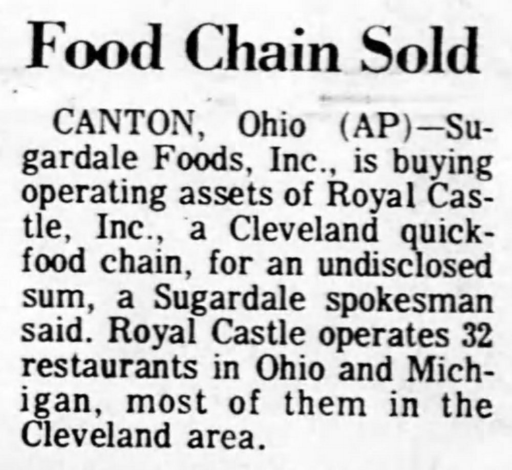 Ohio Stores Sold - Lansing State Journal April 20th, 1973