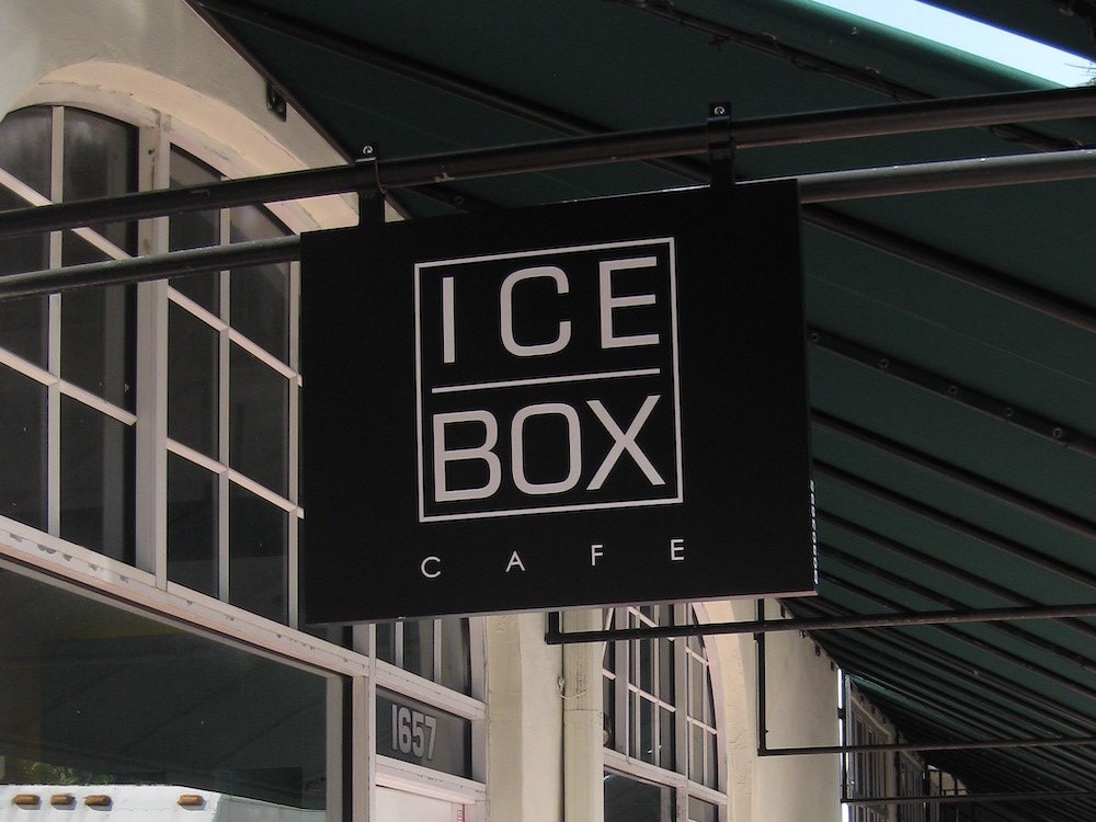Icebox Cafe sign