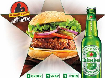 Heineken Light Burger Beast Challenge