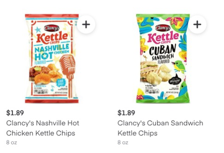 Clancy's Potato Chips on Instacart