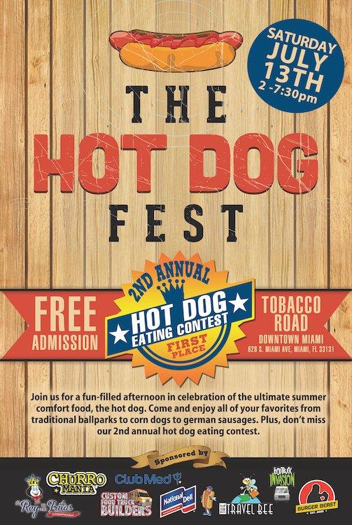 Hot Dog Fest Tobacco Road Poster