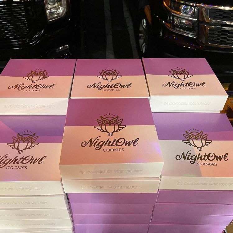 Night Owl Cookie Boxes