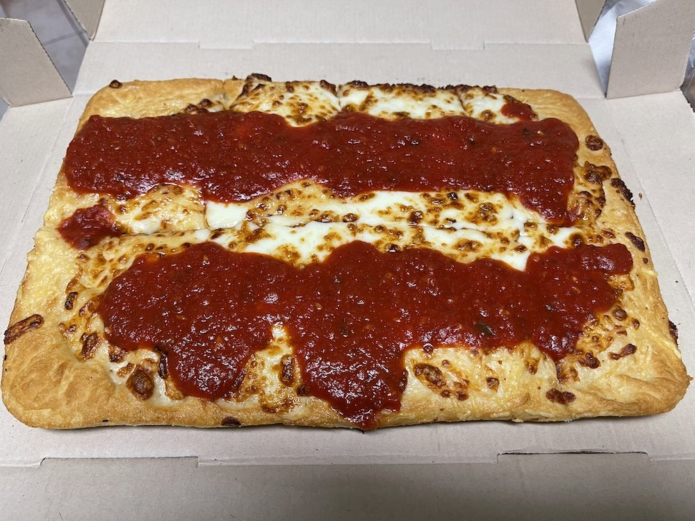 Detroit-style Double Cheesy