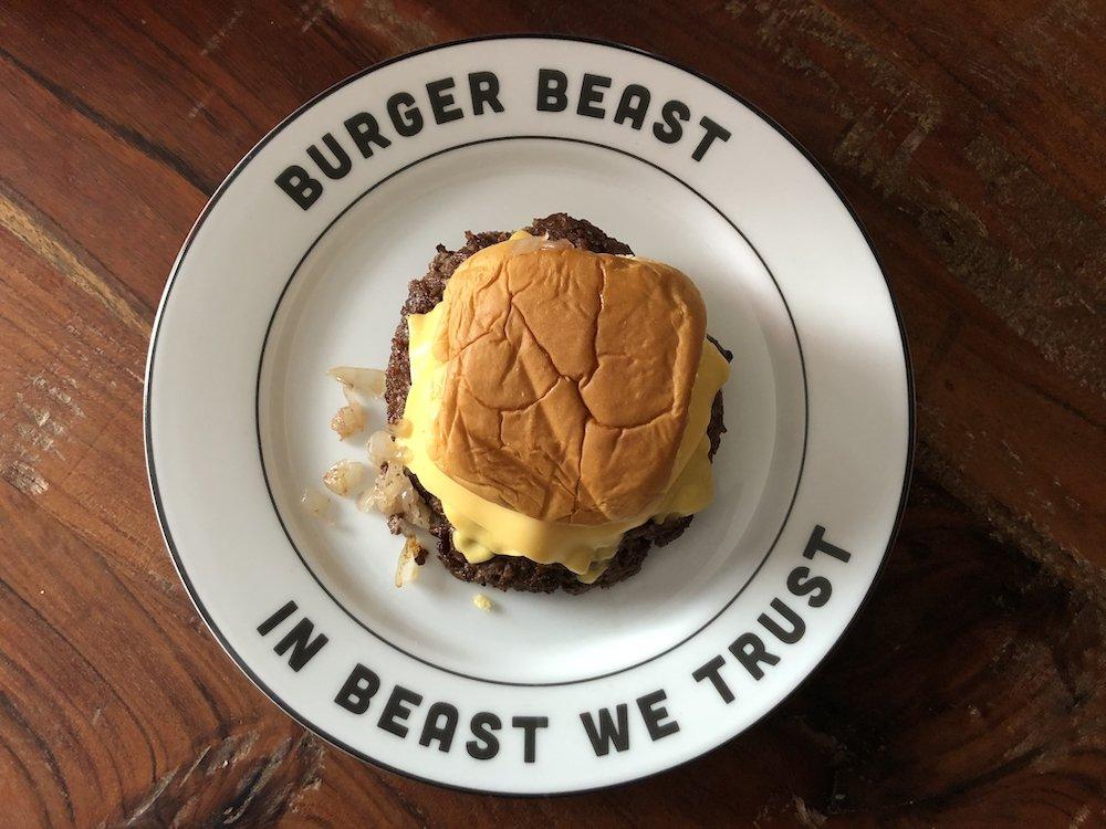 """Burger Beast """"In Beast We Trust"""" Dinner Plate"""