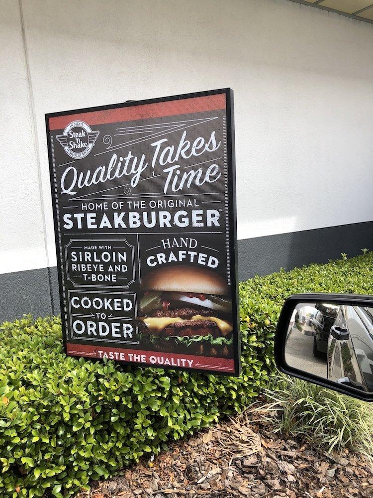 Steak 'n Shake Drive Thru Signage