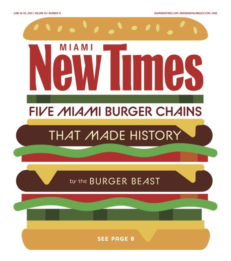 Burger Beast - Miami New Times Cover