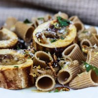 Pasta With Bone Marrow, Lemon and Shallot Sauce