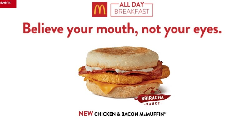 McDonald's Chicken & Bacon McMuffin