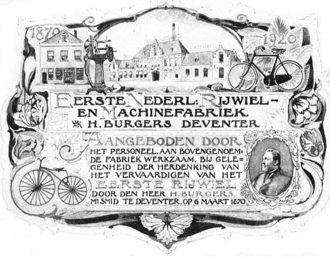 Herdenkingsplaquette uit 1920 (Hogenkamp 1939).