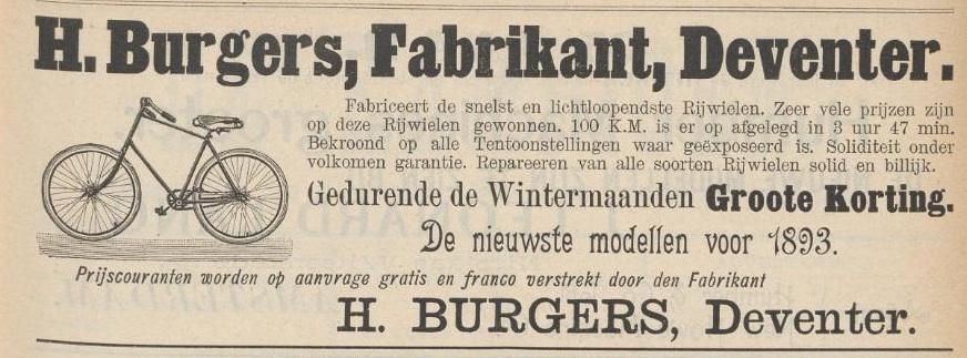 Advertentie Burgers. Kampioen 3 febr. 1893