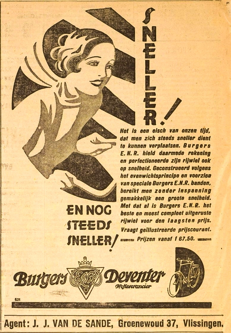 Advertentie Burgers. Vliss. courant 1930-06-30