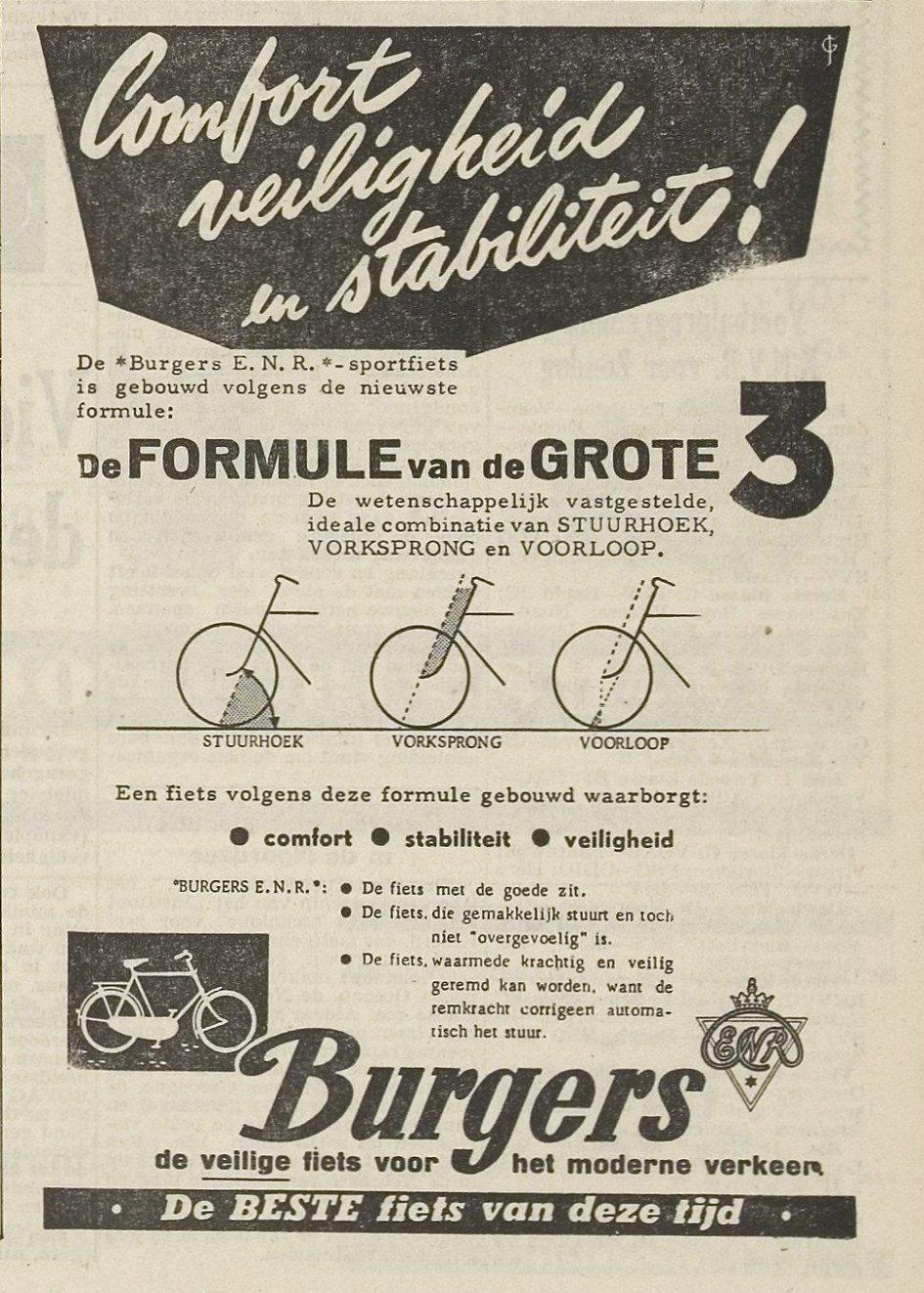 Advertentie Burgers fietsen