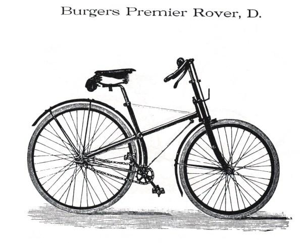 Rover D. catalogus 1893. Burgers heeft dit model zelfs in 1900 nog gemaakt.