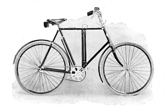 Burgers Opvouwbaar rijwiel uit de catalogus van 1909.