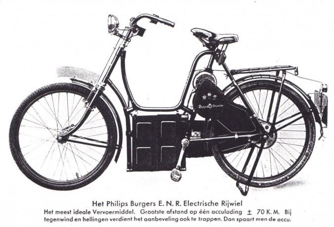 Electrisch rijwiel 1932 met Philipsmotor