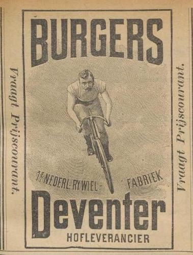 Advertentie Burgers. kampioen 1 sept 1899