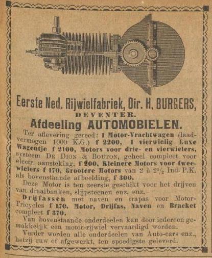 Advertentie De Kampioen 2 juni 1899