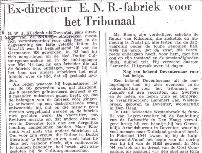 Deventer dagblad 21 nov. 1946