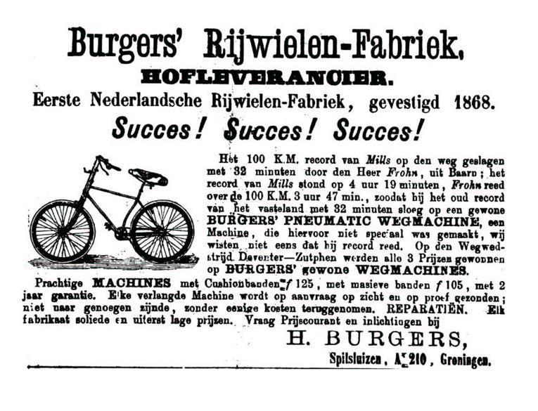 Advertentie Burgers. Leeuwarder Courant 14-07-1892