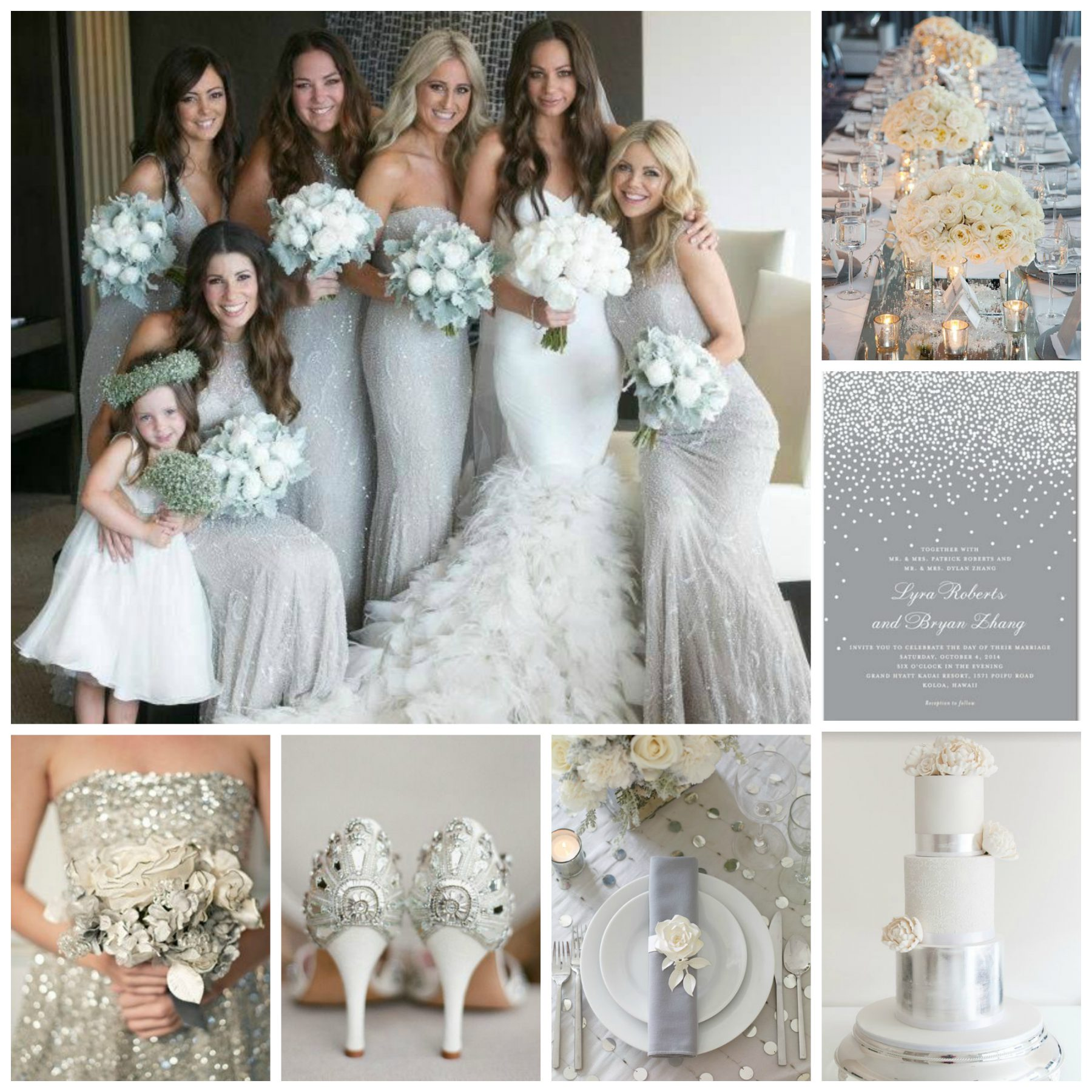 Silver  White Wedding Inspiration  Burgh Brides