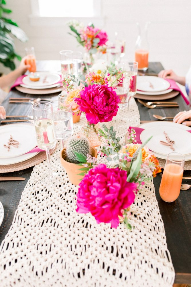 Girly Cactus Themed Bridal Shower Inspiration  Burgh