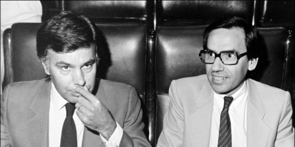 EL PRESIDENTE FELIPE GONZALEZ MARQUEZ Y EL VICEPRESIDENTE ALFONSO GUERRA EN EL CONGRESO DE LOS DIPUTADOS