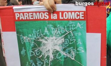 Manifestación contra la LOMCE en Burgos